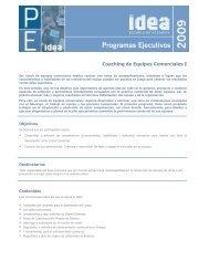 Coaching de Equipos Comerciales I - IDEA