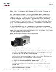 Cisco Video Surveillance 4000 Series High-Definition ... - VIS Security