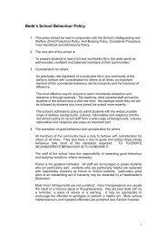 Application of sanctions - St Bede's School