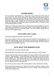 Facts about new borns sleep - Calvary Health Care Tasmania ...