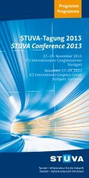 Programm der STUVA-Tagung - Studiengesellschaft für ...