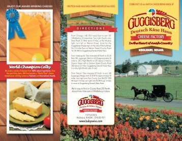 CHEESE FACTORY - Guggisberg Cheese