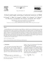 Critical small-angle scattering of polarised neutrons in MnSi - LNS