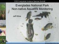 Everglades National Park Non-native Aquatics Monitoring
