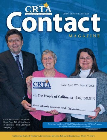 ContactMAGAZINE - CalRTA - California Retired Teachers Association