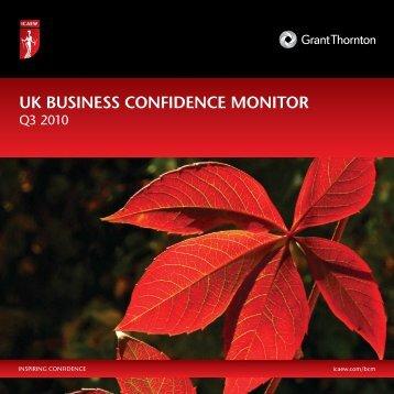 UK BUSINESS CONFIDENCE MONITOR