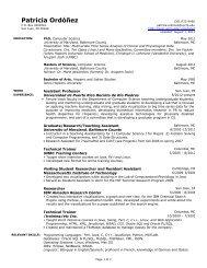Resume - Department of Computer Science - Universidad de Puerto ...