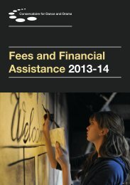Fees and Financial Assistance 2013-14 - Conservatoire for Dance ...
