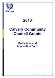 Community Council Grant Application Form - Calvary Health Care ...