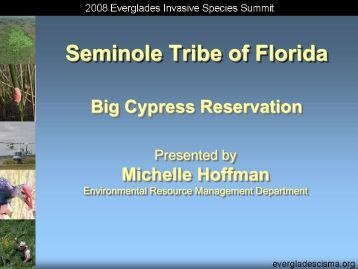 Seminole Tribe - Everglades Cooperative Invasive Species ...