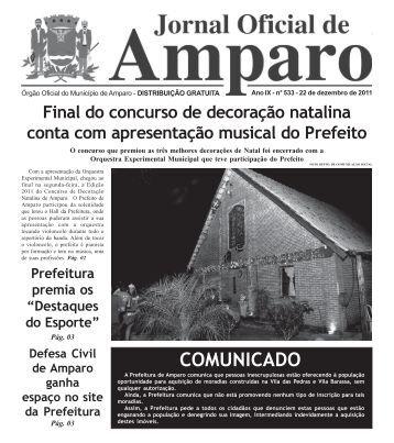 Jornal Oficial - Prefeitura Municipal de Amparo