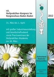 45. Heilpraktiker-Kongress im Kongresshaus Baden-Baden 31 ...