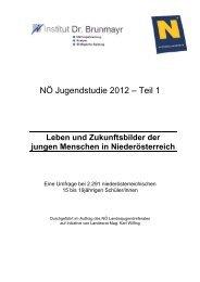 NÖ Jugendstudie 2012 Teil 1 (PDF)