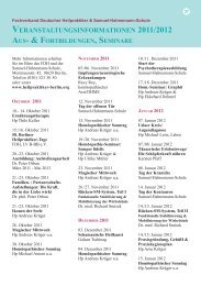 veranstaltungsinformationen 2011/2012 - Berliner Heilpraktiker ...