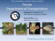 FDOT - Everglades Cooperative Invasive Species Management Area