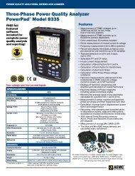 AEMC PowerPad 8335 Three-Phase Power Quality ... - Instrumart