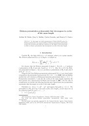 Dickson permutation polynomials that decompose in cycles of the ...