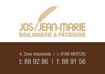 Gâteaux et Glaçes - Home, Boulangerie et Pâtisserie Jos a Jean-Marie