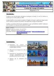 Carnet de voyage à Londres Séquence n°4 - Espace Collèges ...