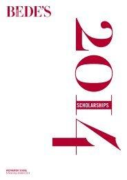Prep Scholarship Brochure 2013-14 - St Bede's School