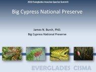 Big Cypress National Preserve - Everglades Cooperative Invasive ...