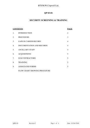 Habitable Building Vetting Checklist