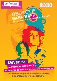 Brochure des formations BAFA BAFD 2013 / Fiche d'inscription