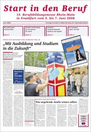 Start in den Beruf Start in den Beruf 15 ... - Rhein-Main.Net