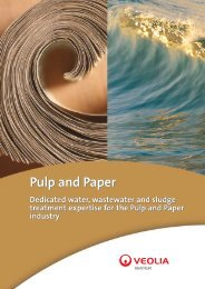 Industrial water, wastewater, sludge