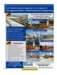 New Rapid Mix 400CW & 600CW Portable RCC/Pugmill Plants