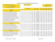 Student Course Evaluation Questionaire