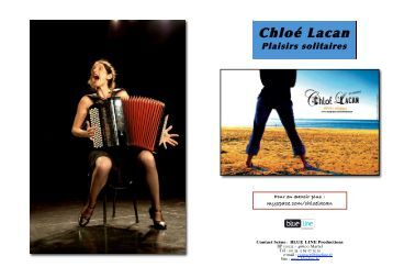 Dossier PDF (270Ko) : Chloé Lacan - L'Eclat