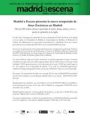 Madrid a Escena presenta la nueva temporada de ... - Publiescena