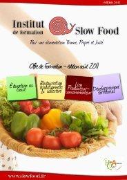 Offre de Formation - édition août 2011 - Slow Food France