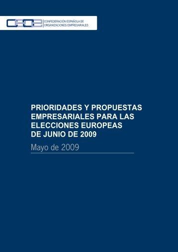 Informe de propuestas y prioridades empresariales de la CEOE