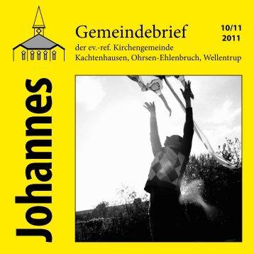 Elena Wendt ist zurück - ref. Johannesgemeinde Kachtenhausen