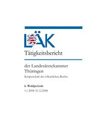 6. Wahlperiode - Landesärztekammer Thüringen