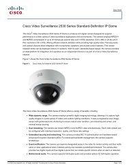 cisco – civs – external 2530 ip dome camera - VIS Security