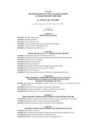 L E G E  privind înregistrarea de stat a persoanelor juridice şi a ...