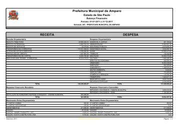 Balanço Financeiro.pdf - Prefeitura Municipal de Amparo