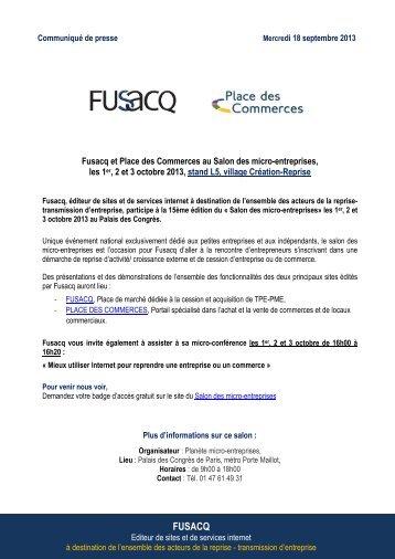Fusacq et Place des Commerces au salon des Micro-Entreprises les ...