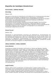 Biografien der beteiligten Künstlerinnen - Thealit