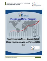 Touch Screens in Mobile Devices Market - Global Industry Analysis and Forecast 2015 - 2021