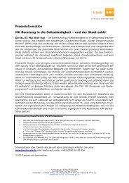 Mit Beratung in die Selbständigkeit – und der Staat ... - foerder-abc.de