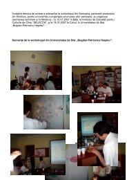 Învăţând tehnica de scriere a scenariilor la workshopul din ...