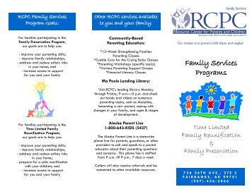 Family Services Programs - Resource Center for Parents and Children