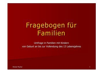 Fragebogen für Familien