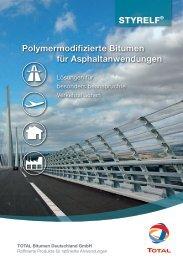 STYRELF® Polymermodifizierte Bitumen für Asphaltanwendungen