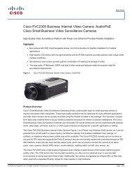 Cisco PVC2300 Business Internet Video Camera: Audio/PoE Cisco ...