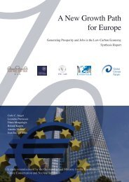 A New Growth Path for Europe - Global Climate Forum